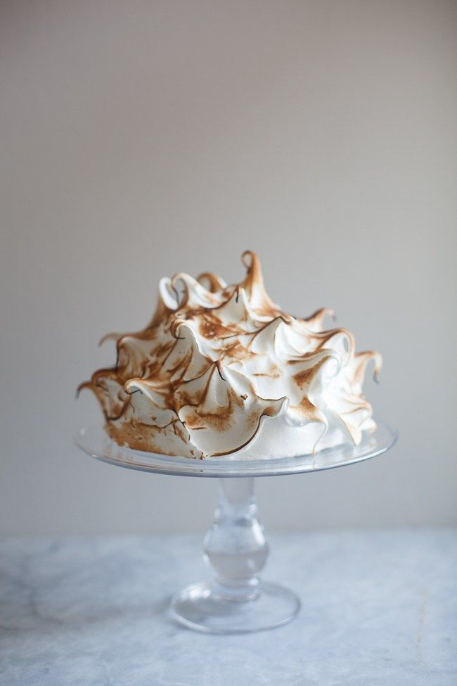 Chocolate Bourbon Coffee Baked Alaska