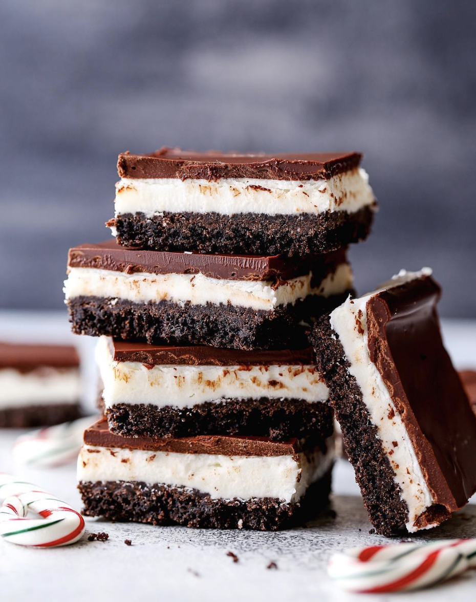 Chocolate Peppermint Cream Bars