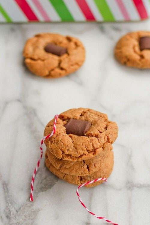 Peanut Butter Chocolate Chunk Blossom Cookies