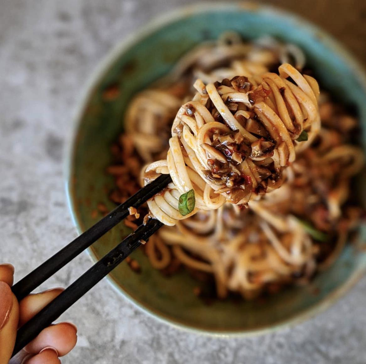 Shiitake Dan Dan Noodles