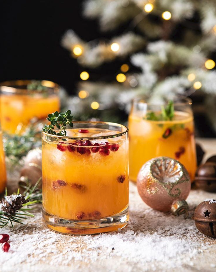 Winter Citrus Vodka and Ginger Beer Cocktail