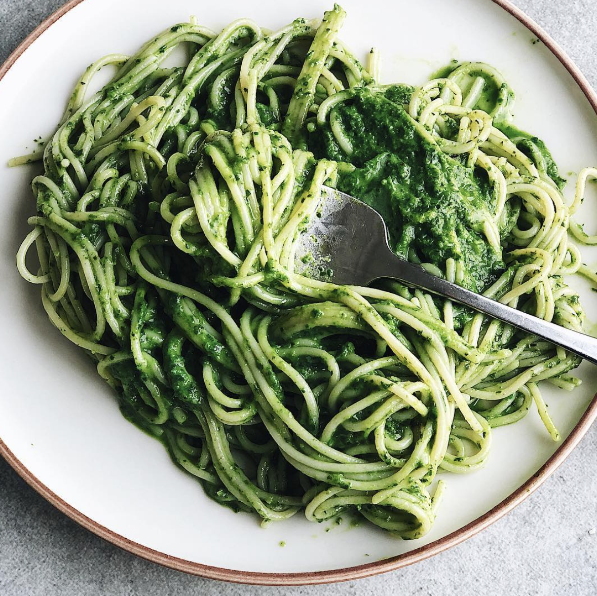 Herbed Pasta with Parsley, Spinach and Basil