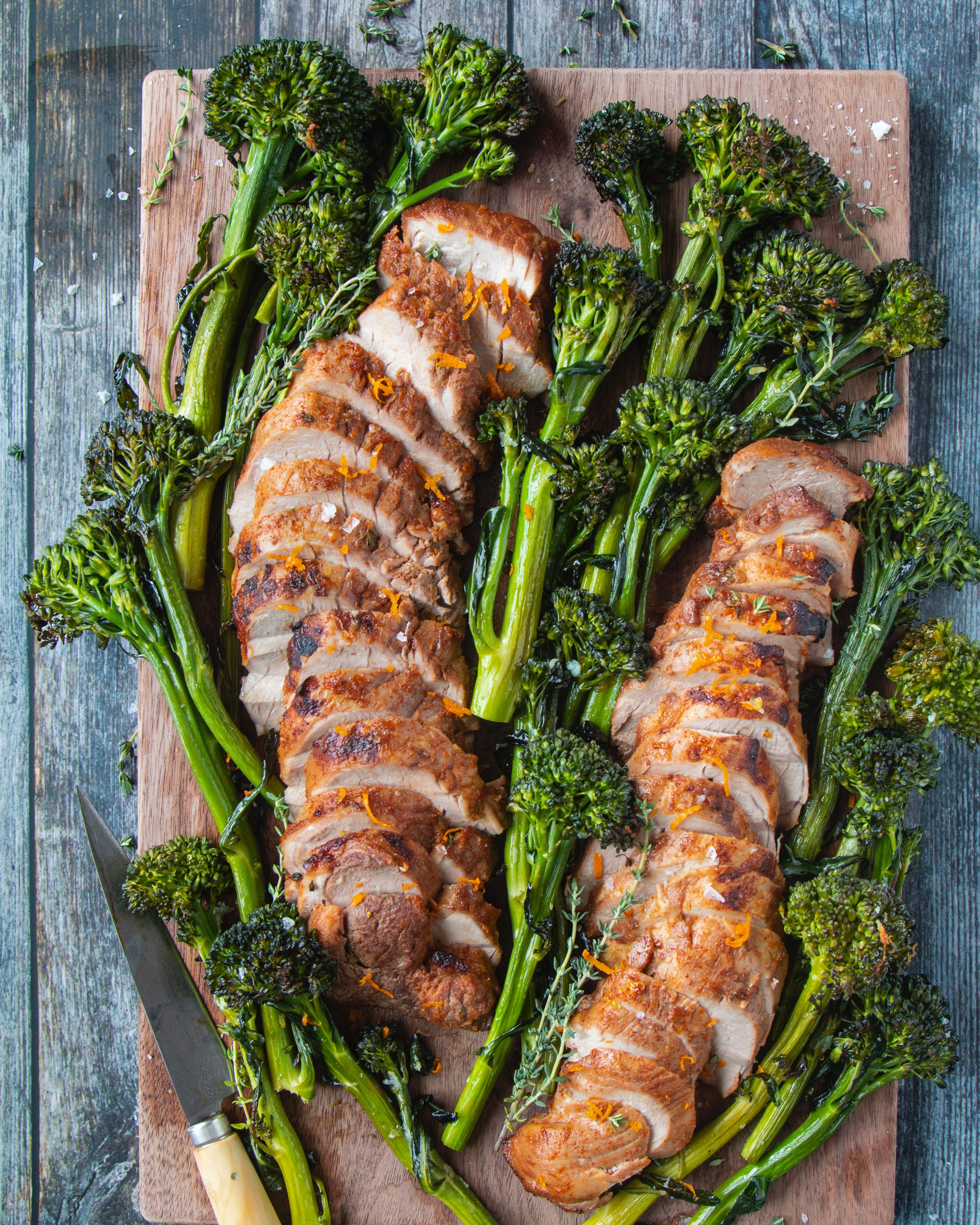 Citrus-Glazed Pork Tenderloin with Garlic Broccolini