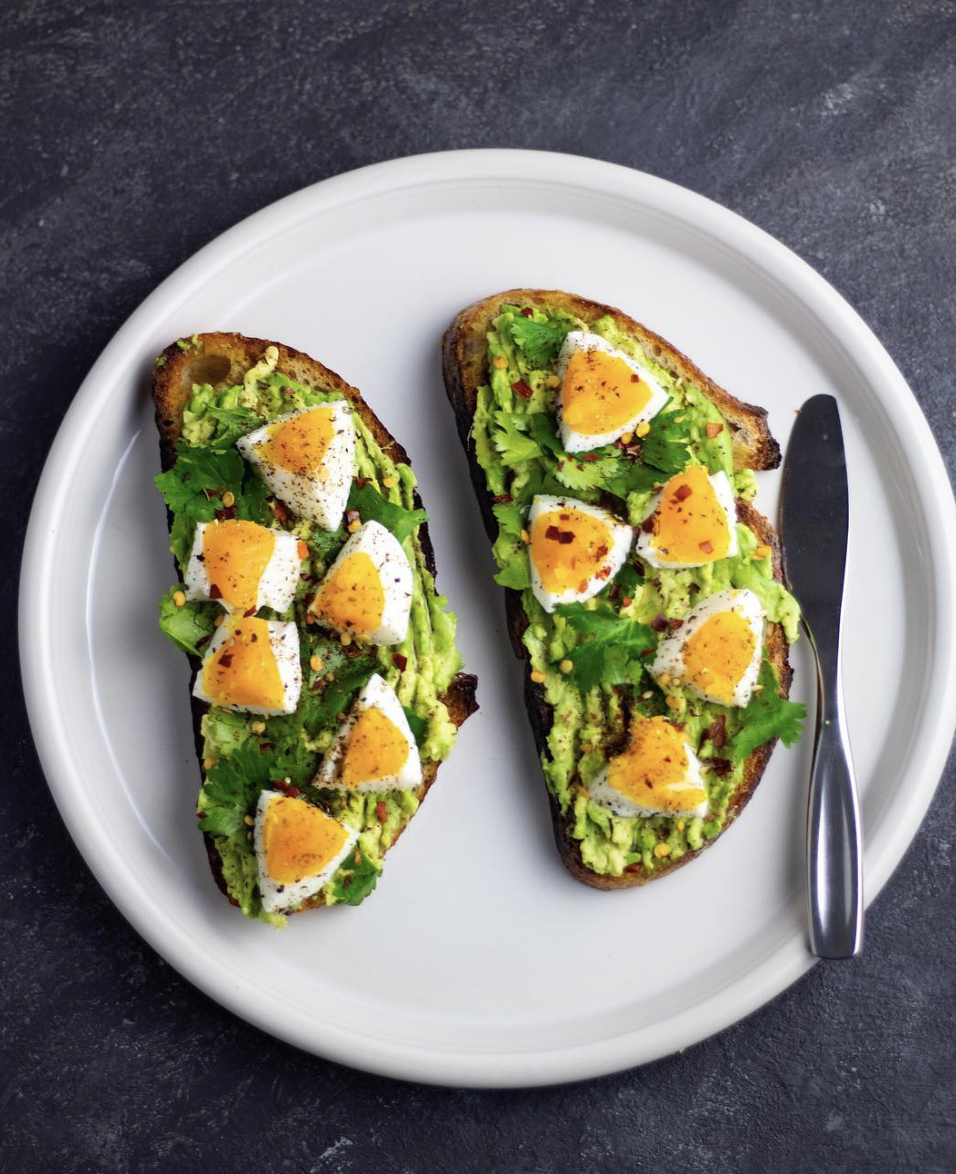 Za'atar Avocado and Egg Sourdough Toast
