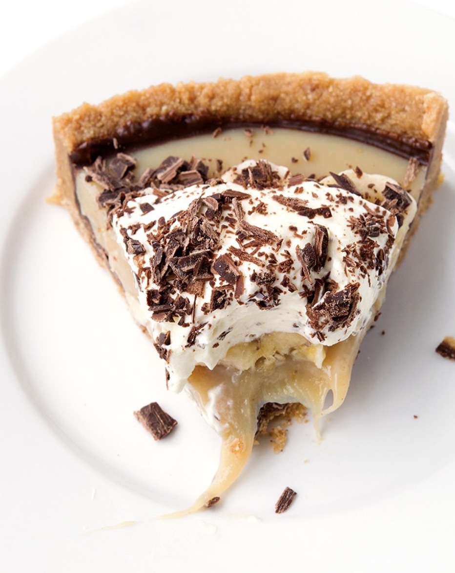 Chocolate Banana Toffee Pie
