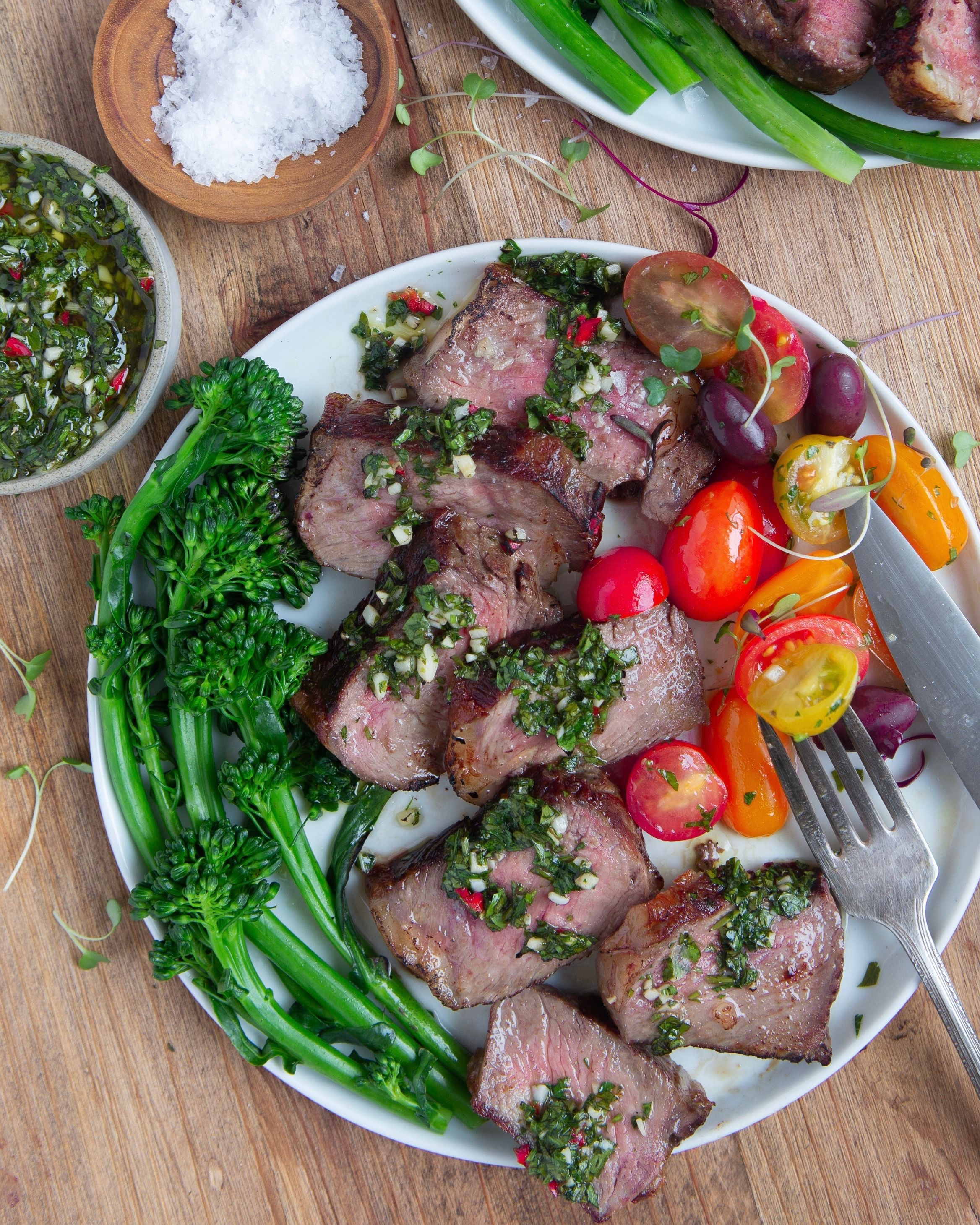 Seared Strip Steak with Chimichurri