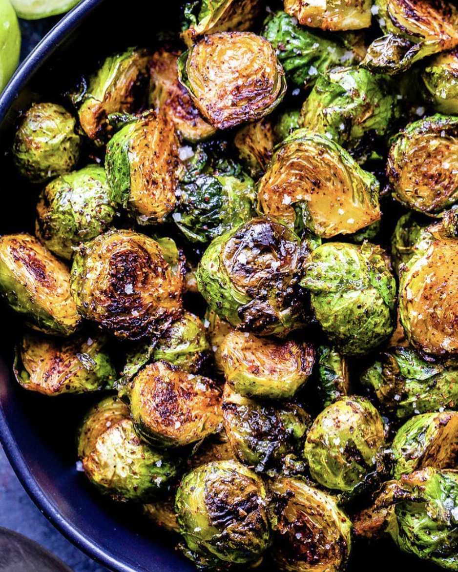 Roasted Chili Lime Brussel Sprouts