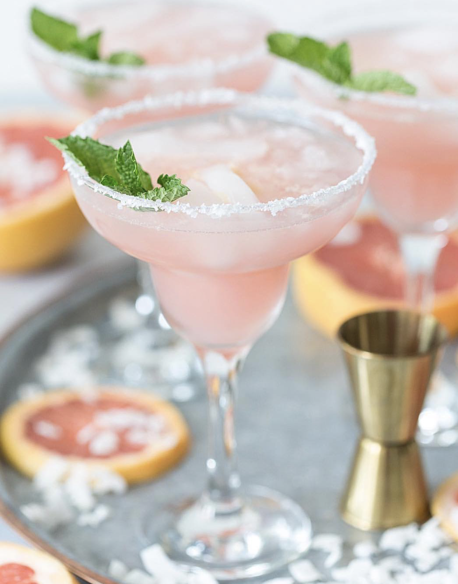 Coconut Grapefruit Margaritas with Lime
