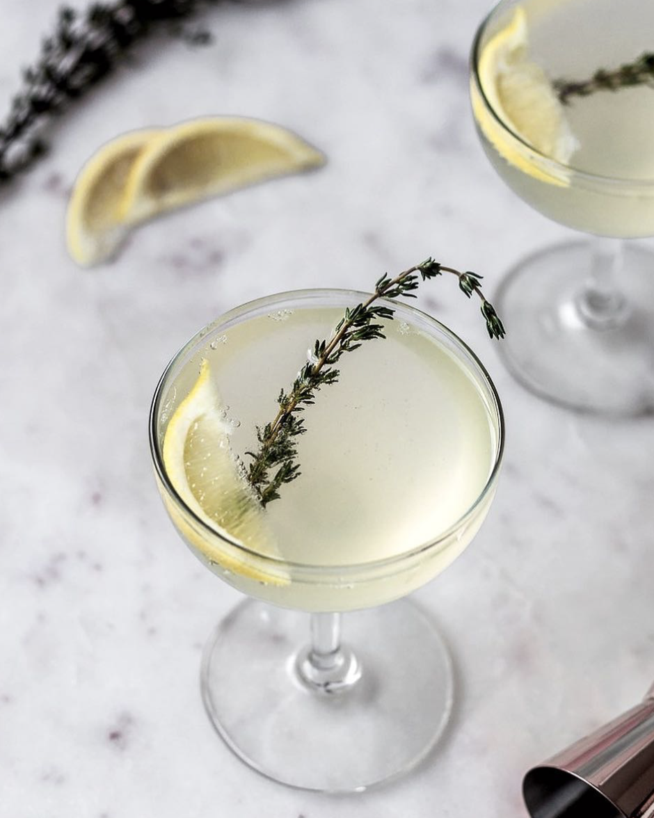 French 75 with Thyme