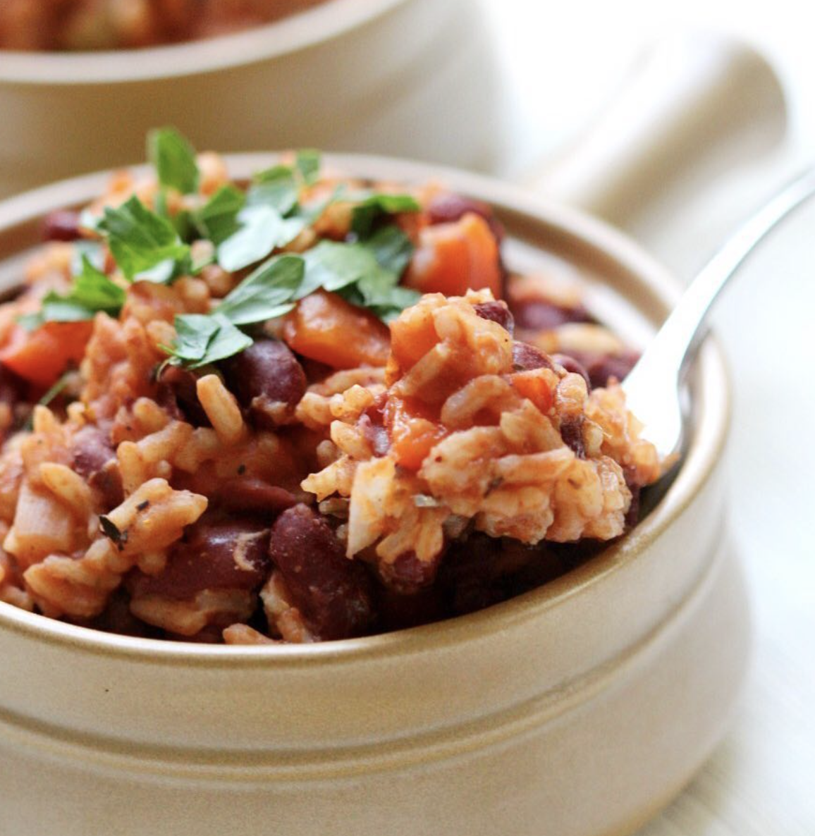 One-Pot Kidney Beans and Rice