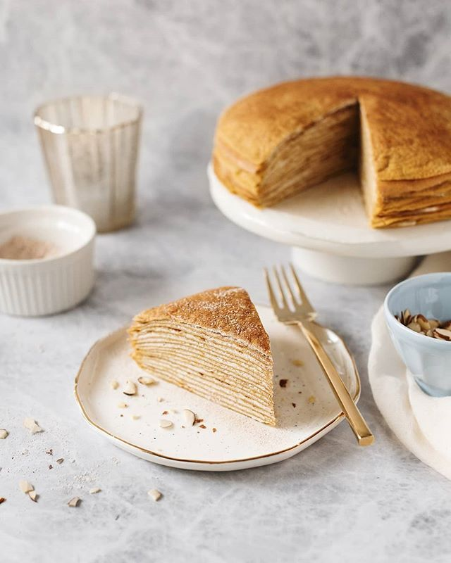 Pumpkin Crêpe Cake