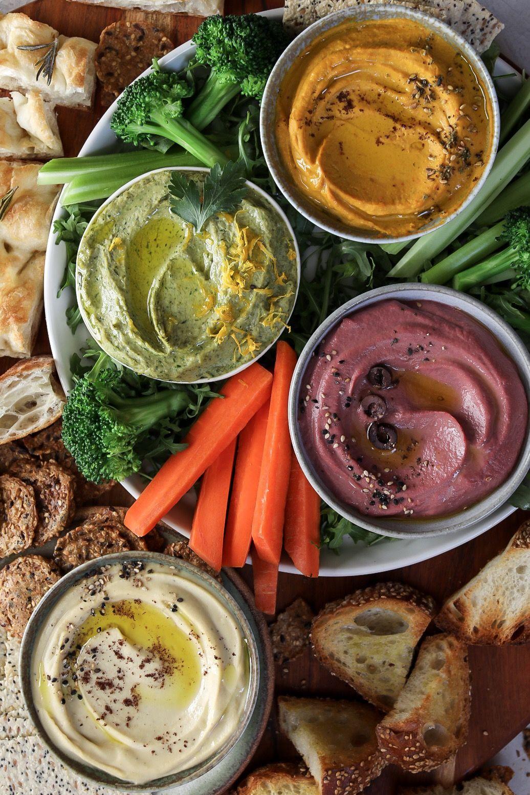 Roasted Veggie Hummus Platter