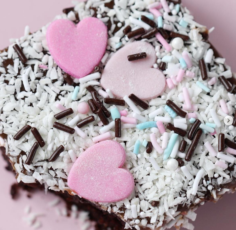 Valentine's Day Chocolate Sheet Cake