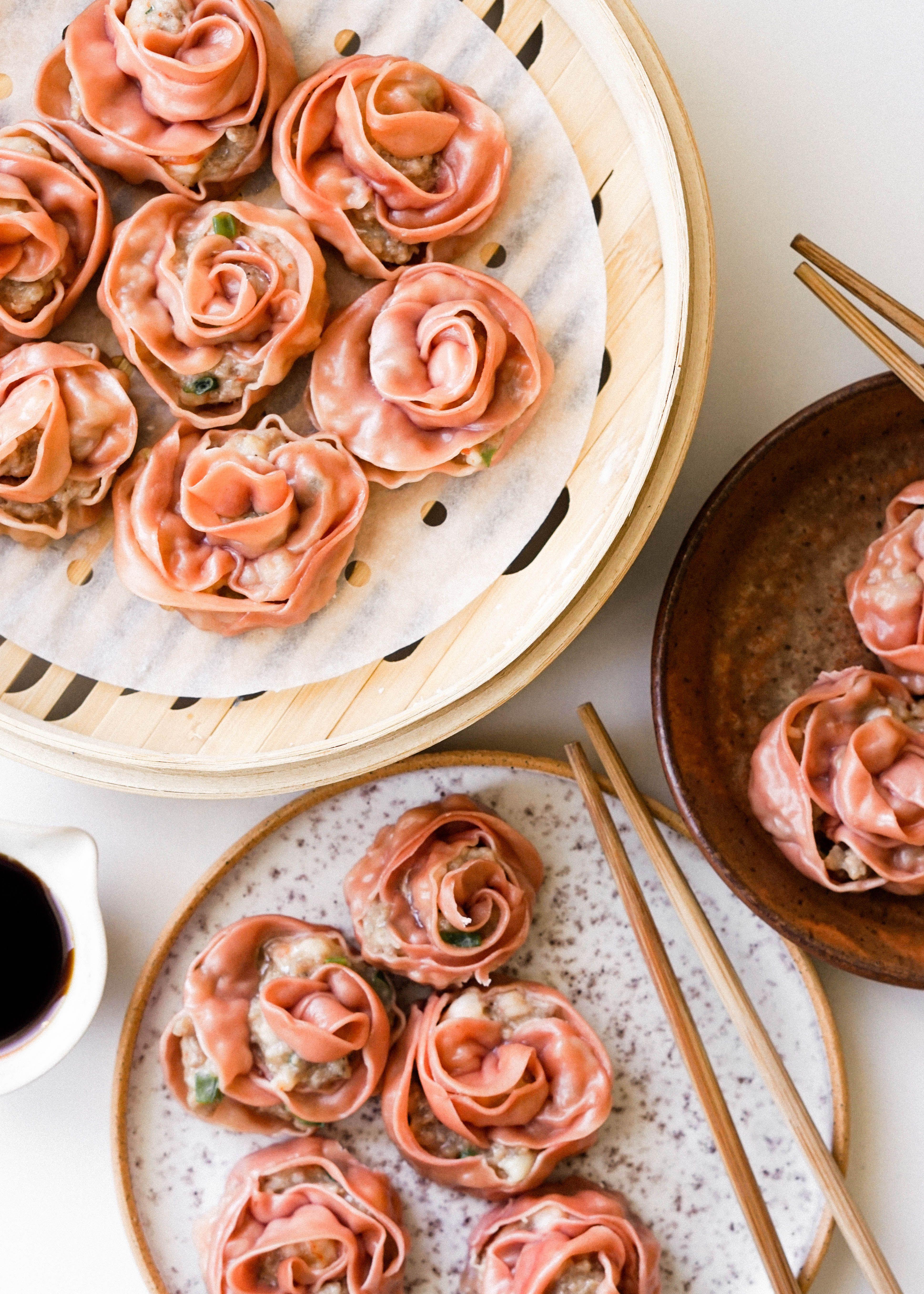 Pork and Shrimp Rose Dumplings