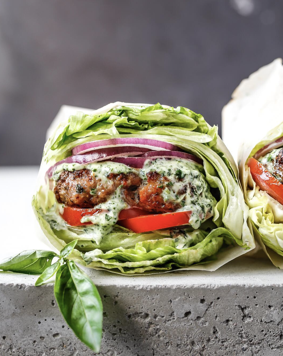 Sun-Dried Tomato Chicken Burgers with Basil Aioli