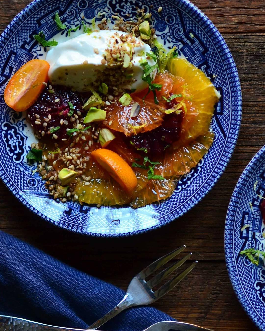Citrus with Sweet Pistachio Dukkah