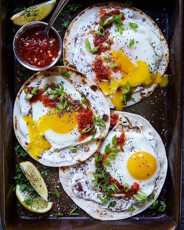 Za'atar Fried Egg Tacos
