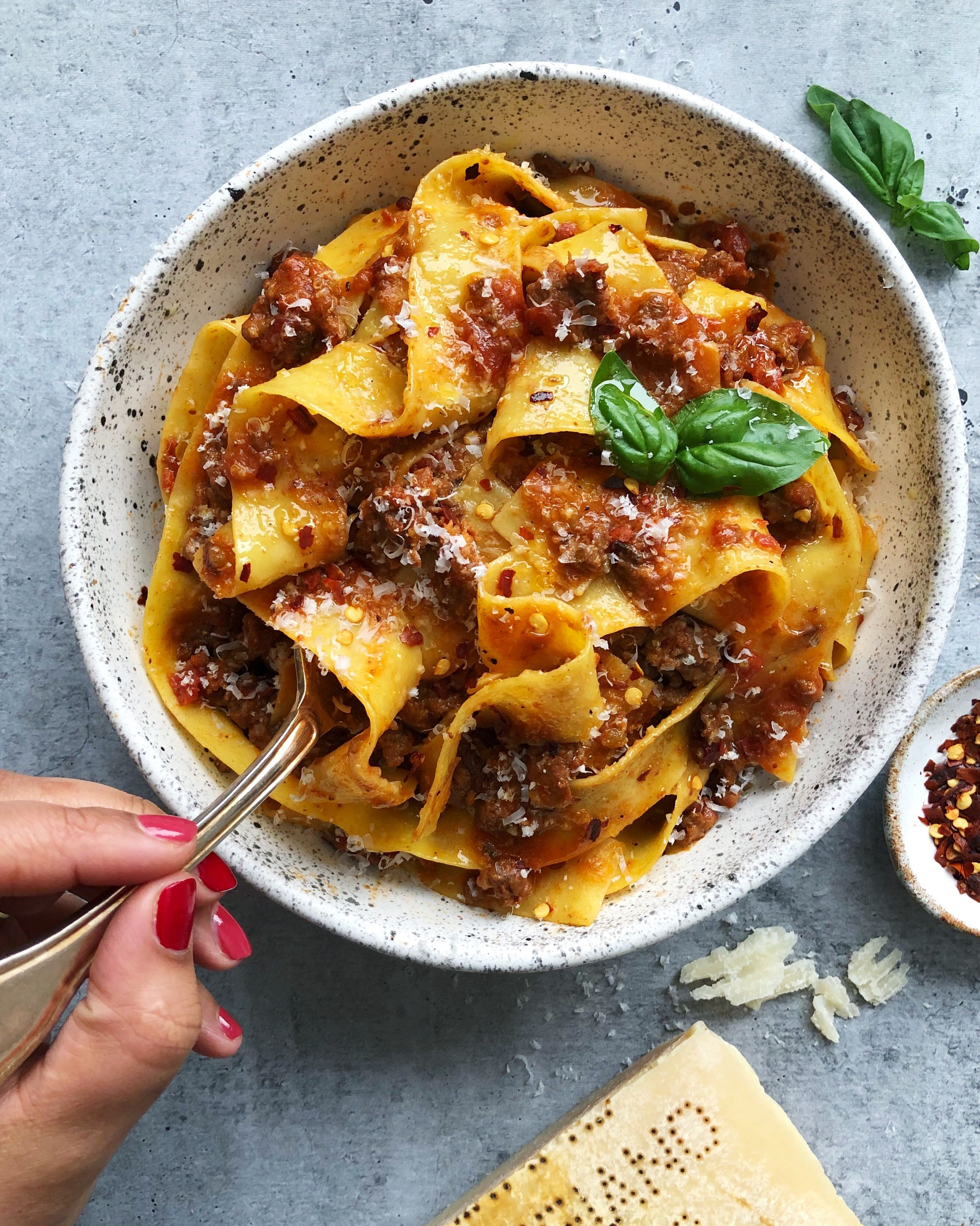 Weeknight Sausage and Beef Bolognese