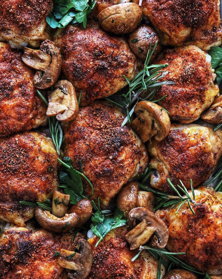 Smoky and Sweet Crispy Roasted Chicken Thighs