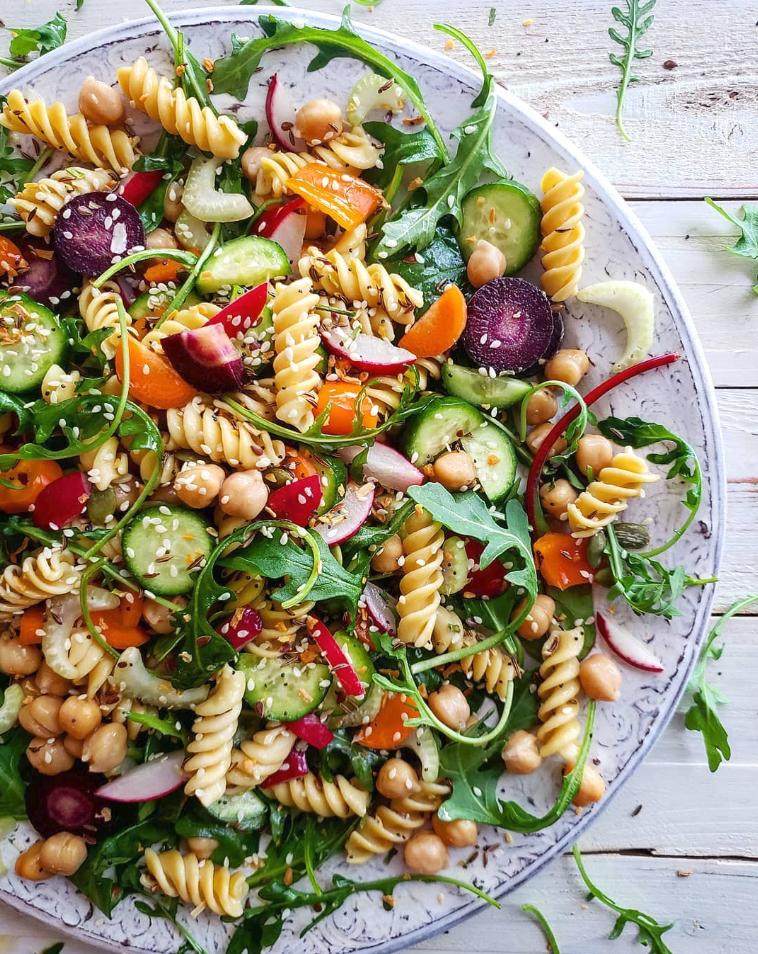 Chickpea Rotini Salad