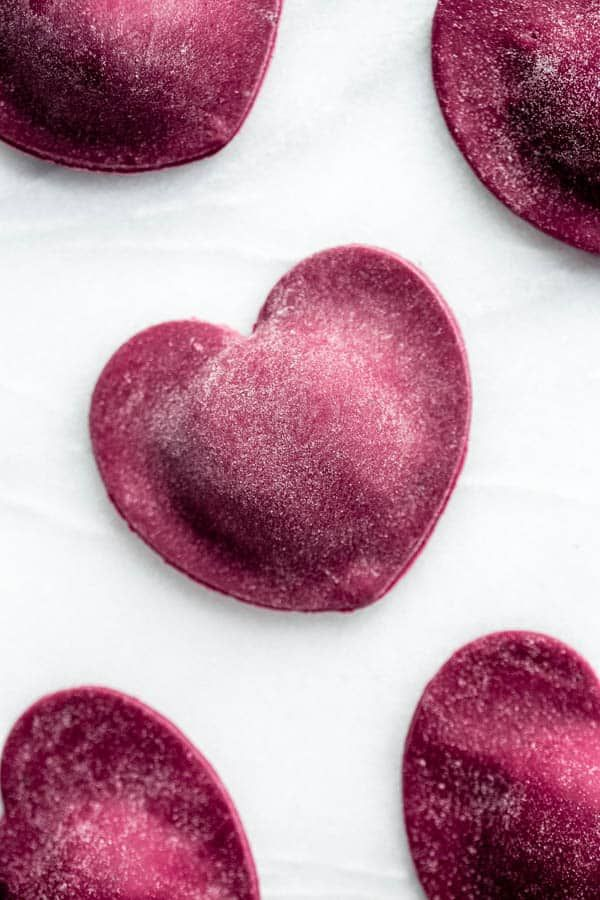 Heart Beet Stuffed Pasta