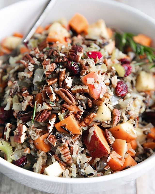 Pilaf with Cranberries, Sweet Potato and Pecans