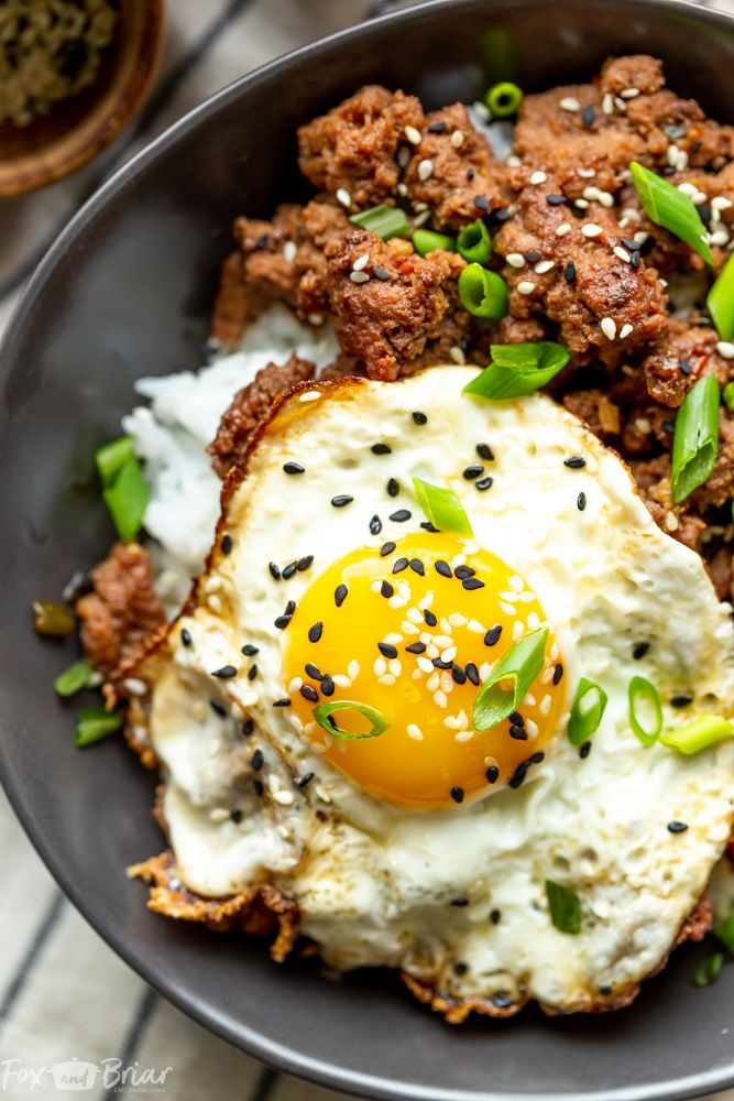 Spicy Ground Beef Bowls