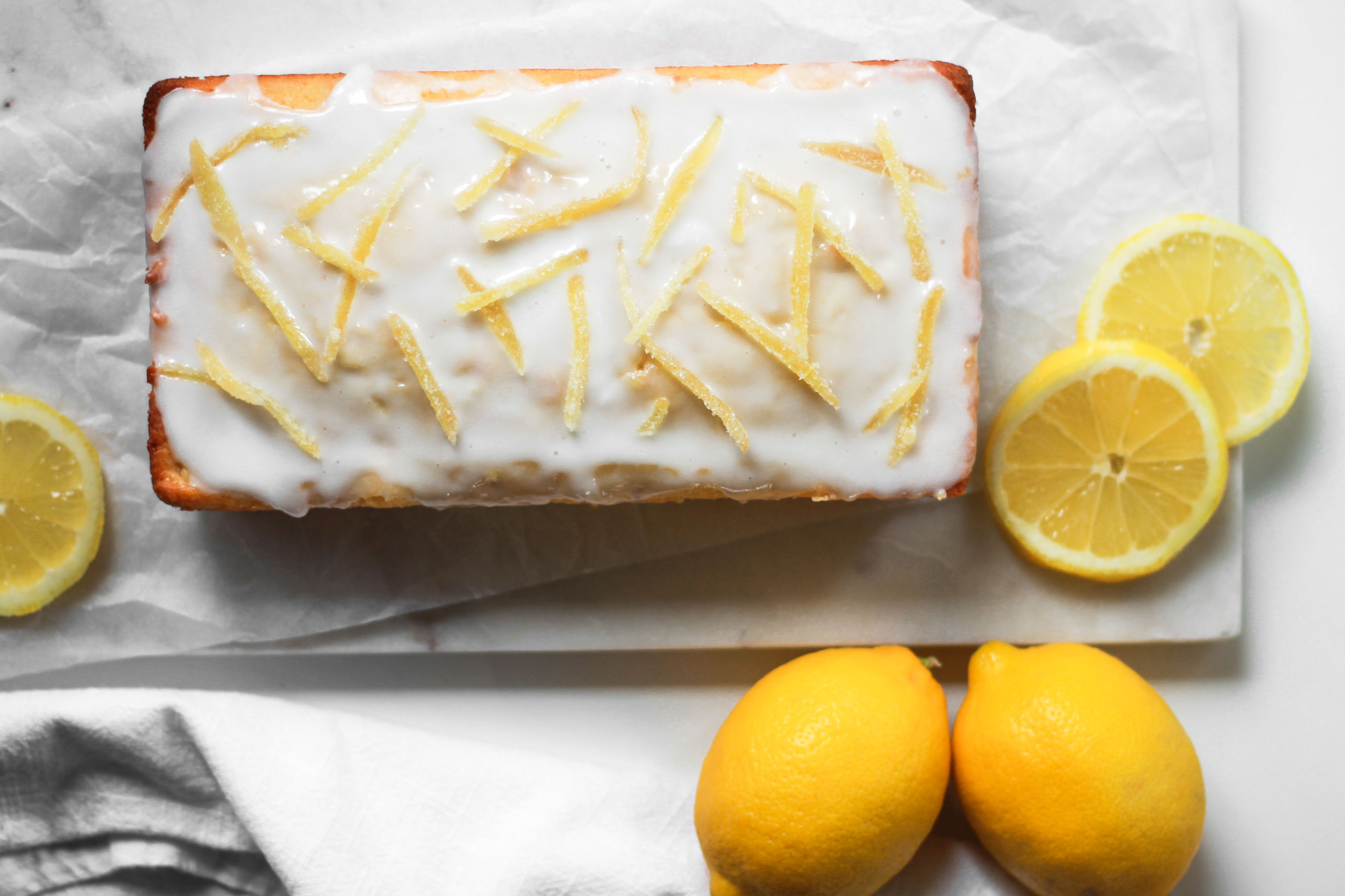 Lemon Ginger Loaf with Lemon Glaze