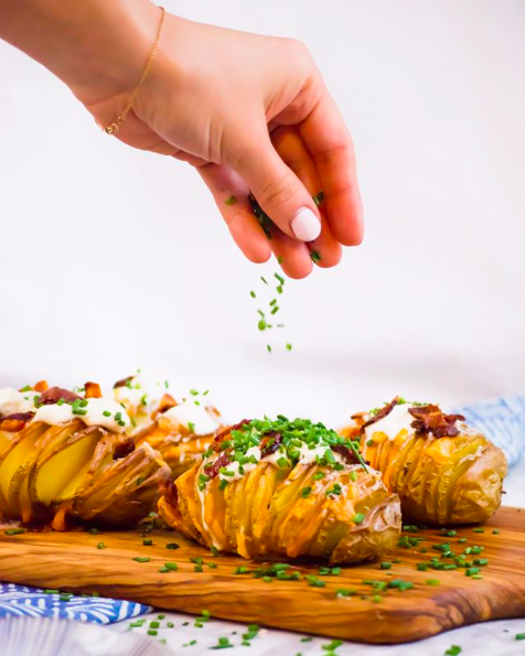 Cheddar and Bacon Hasselback Potatoes