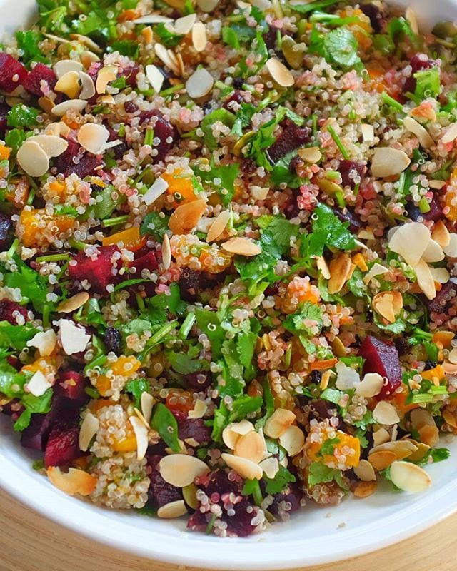 Pumpkin and Beet Quinoa Salad