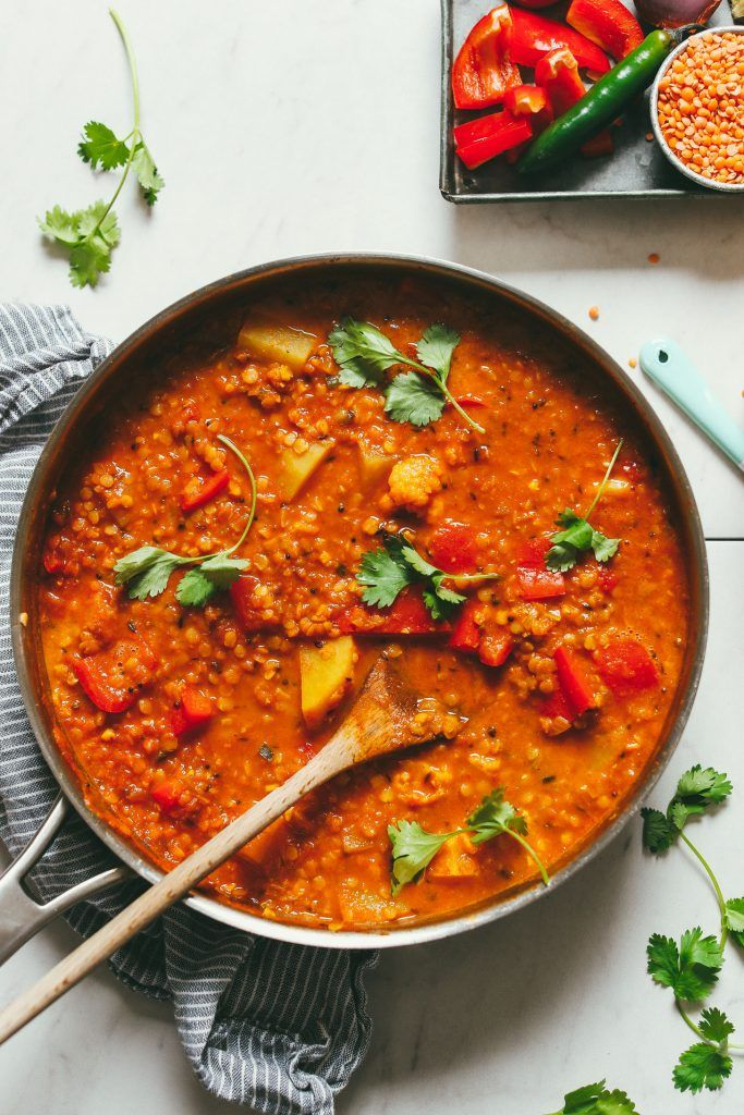Red Lentil Stew with Potato and Cauliflower