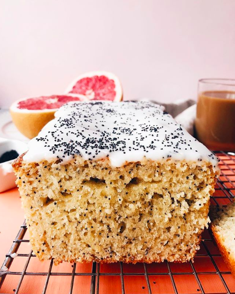 Poppy Seed Grapefruit Loaf Cake