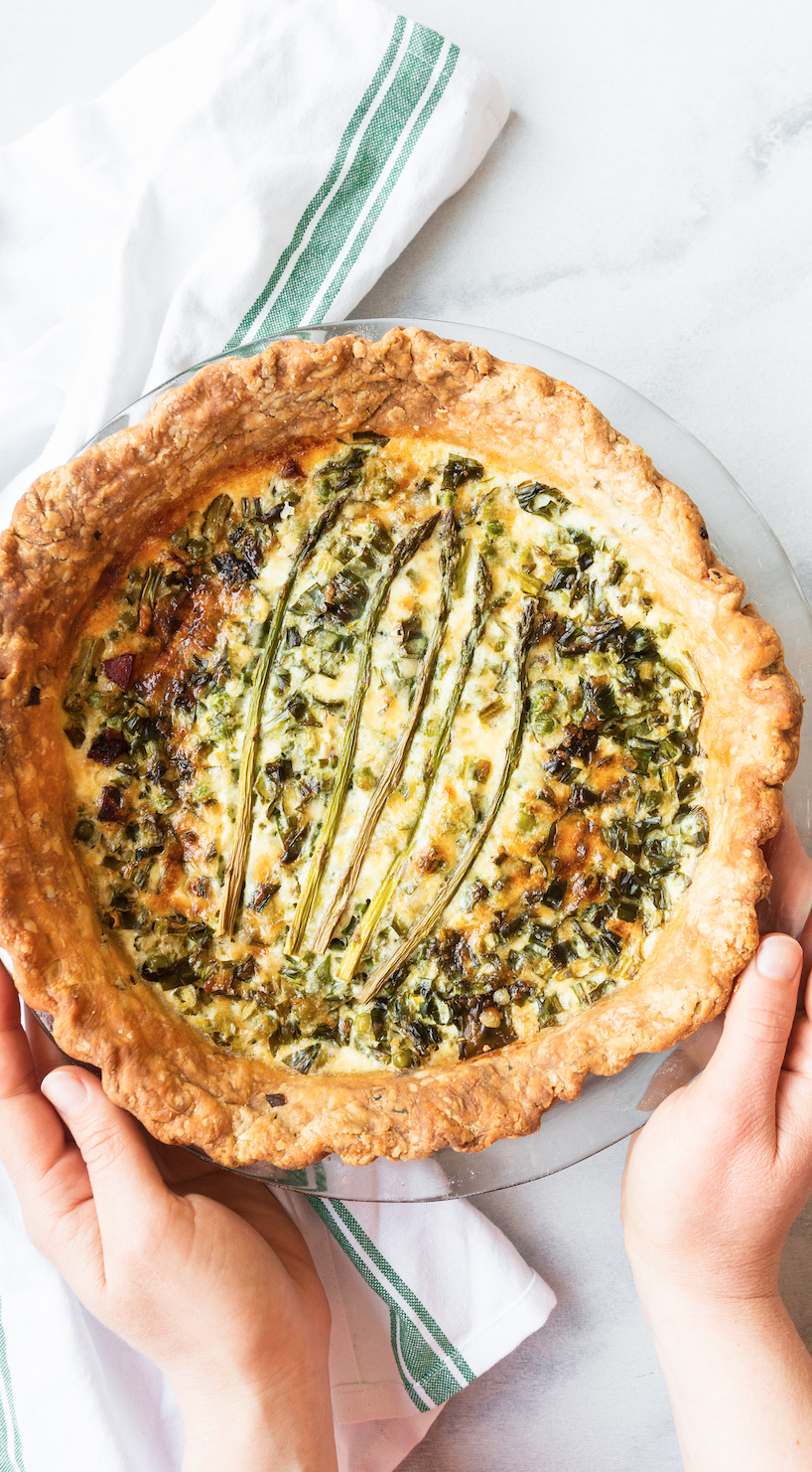 Spring Quiche with Asparagus and Ramps