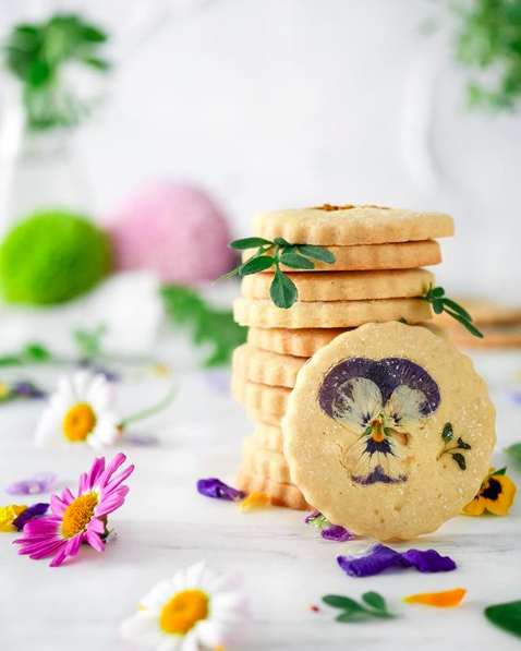 Gluten Free Botanical Shortbread Cookies