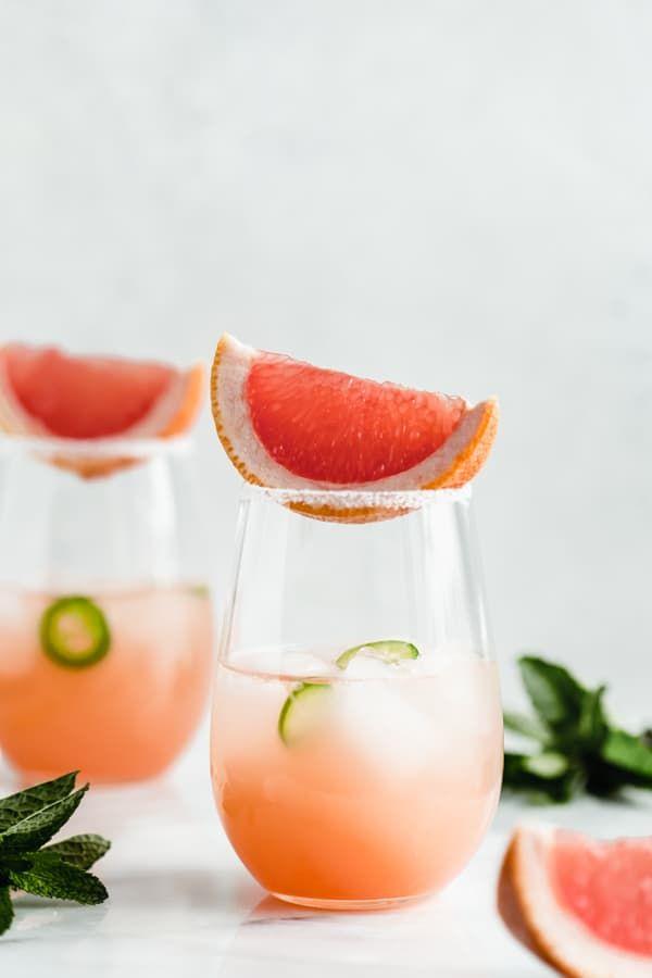 Spicy Grapefruit Lime Margaritas