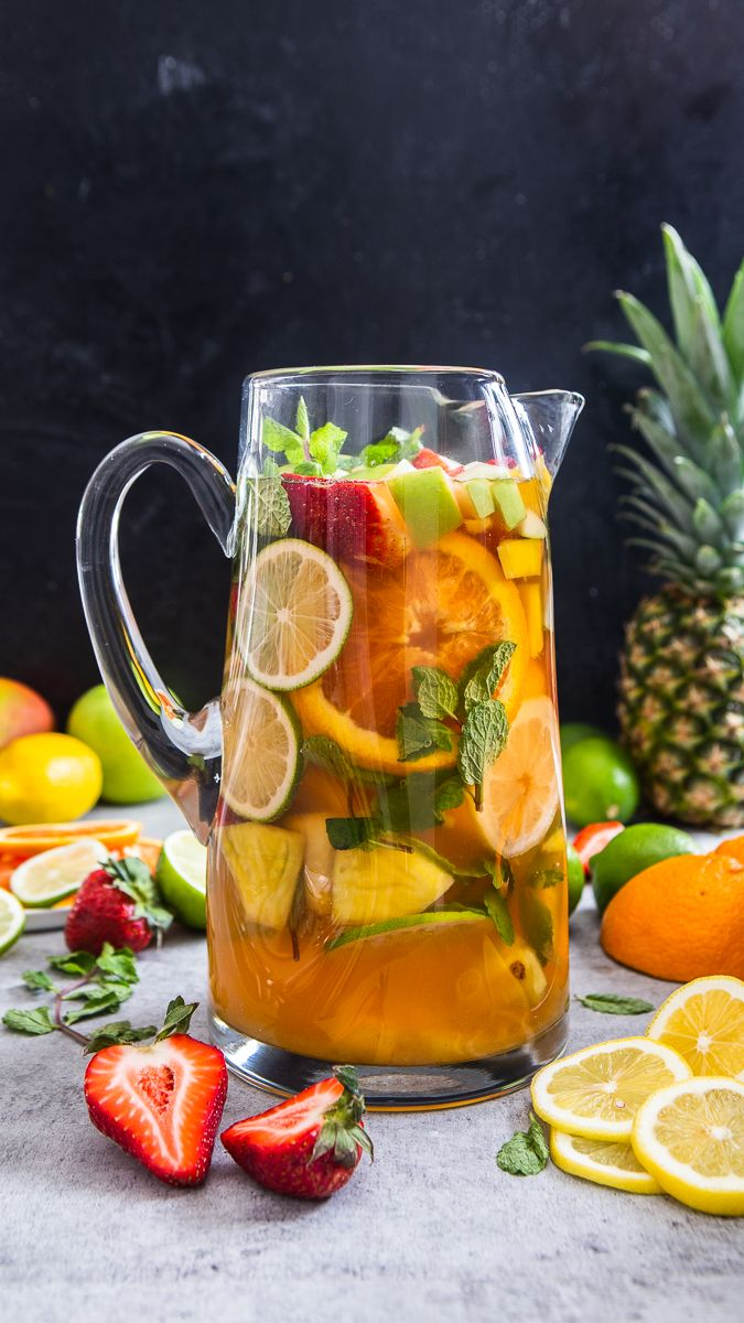 Pineapple, Mango, Strawberry and Green Apple White Wine Sangria