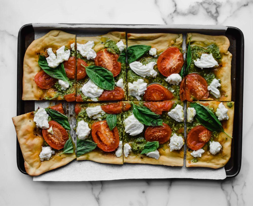 Mozzarella Pesto Flatbread