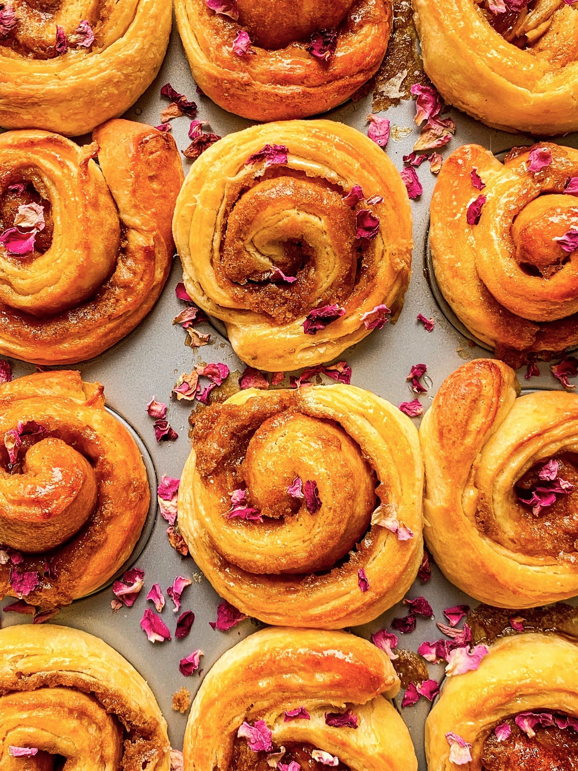 Rose and Citrus Morning Buns