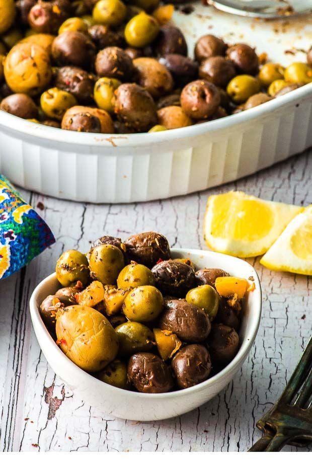 Herby Roasted Olives
