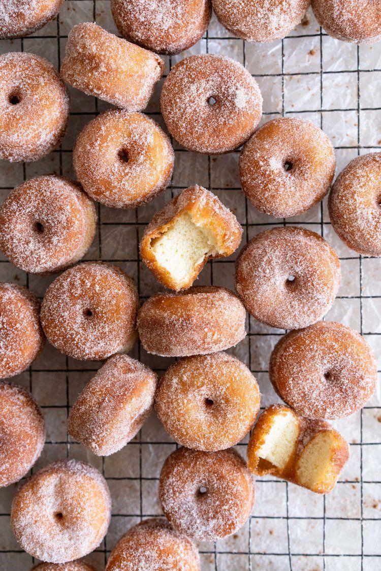 Cinnamon Sugar Mini Brioche Doughnuts