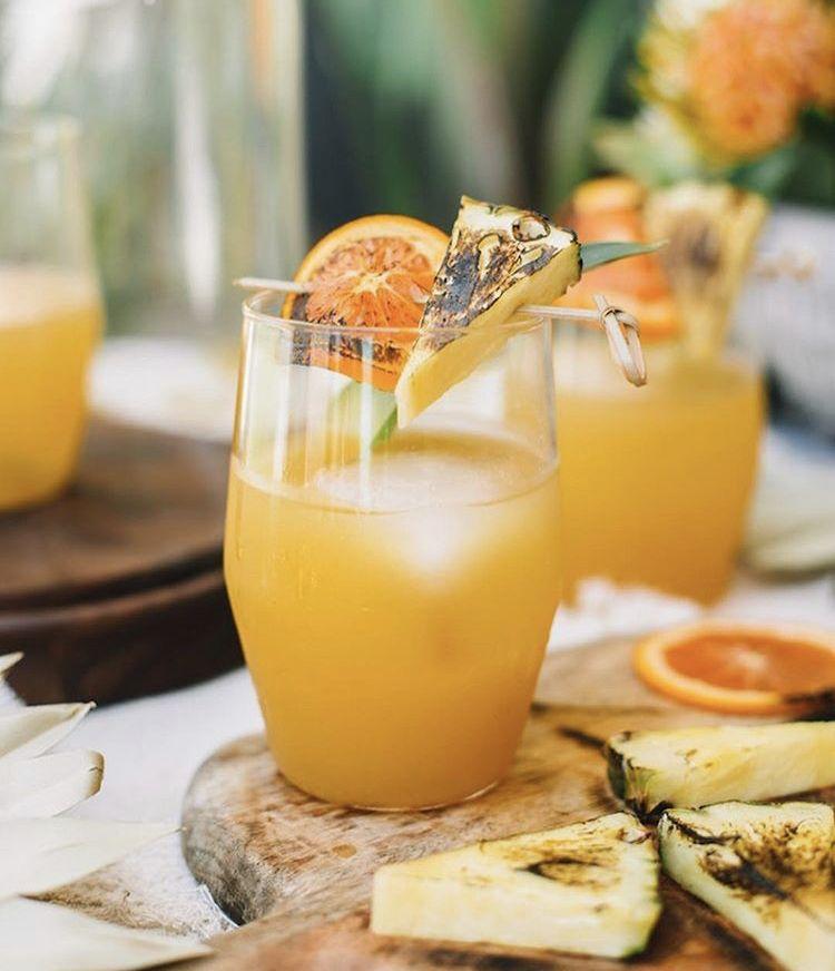 Charred Pineapple Margaritas