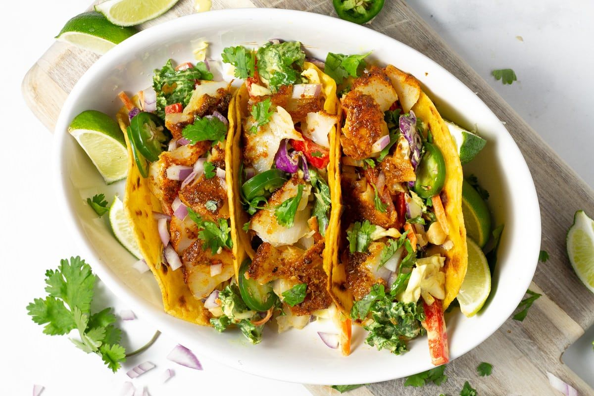 Baked Curry Fish Tacos