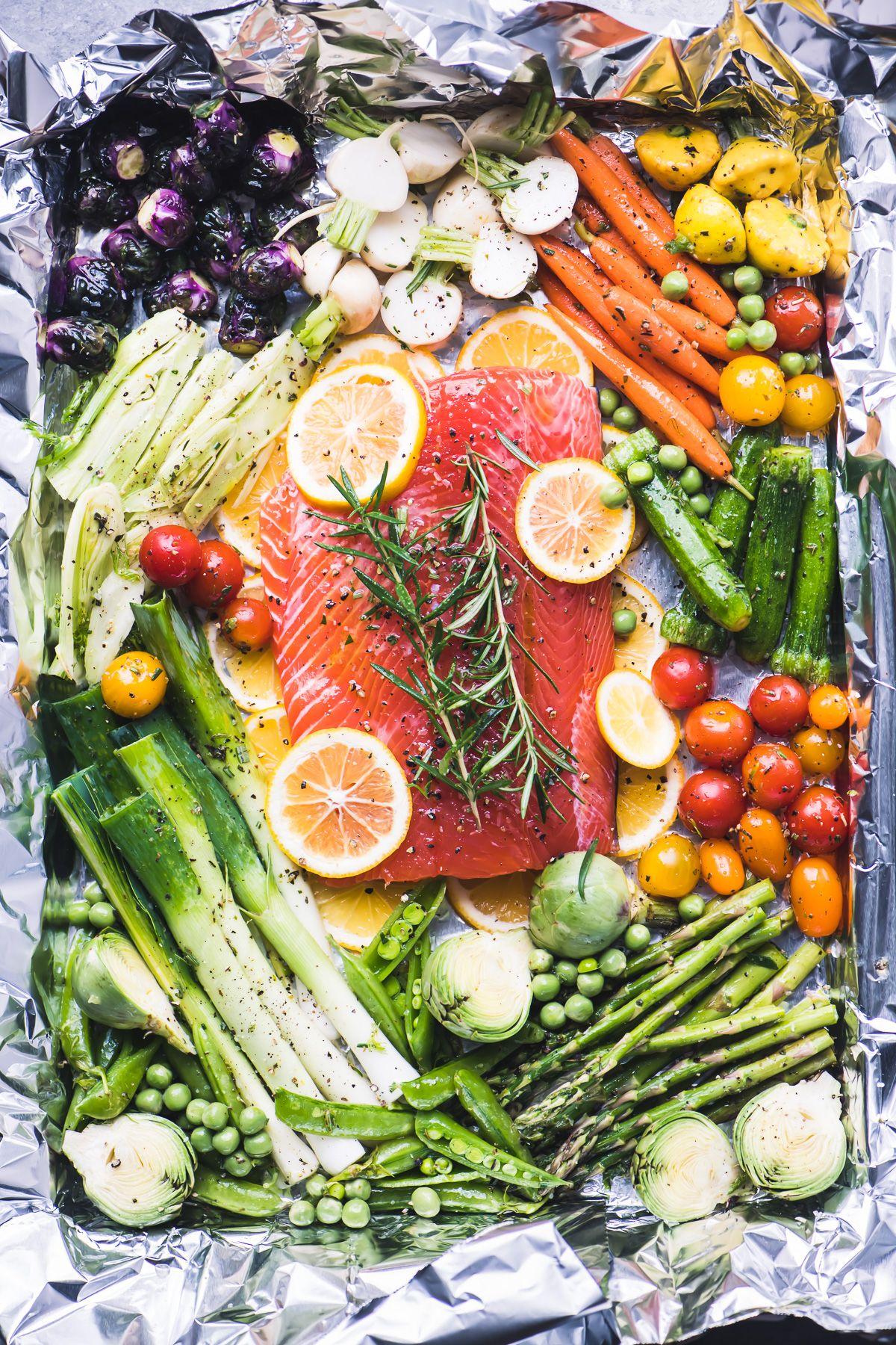 Sheet Pan Salmon and Spring Vegetables