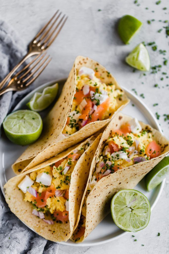 Smoked Salmon and Egg Breakfast Tacos