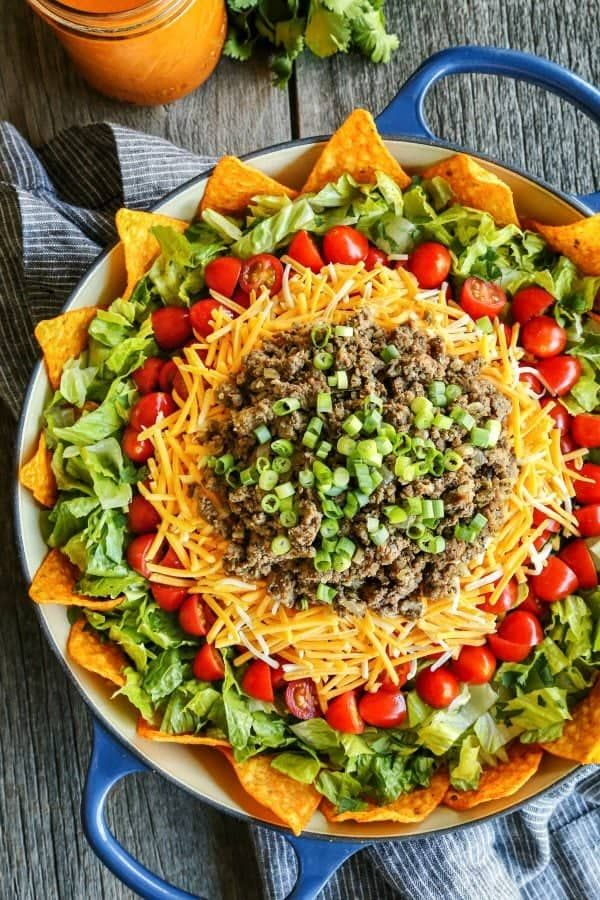 Taco Salad with Creamy Dressing