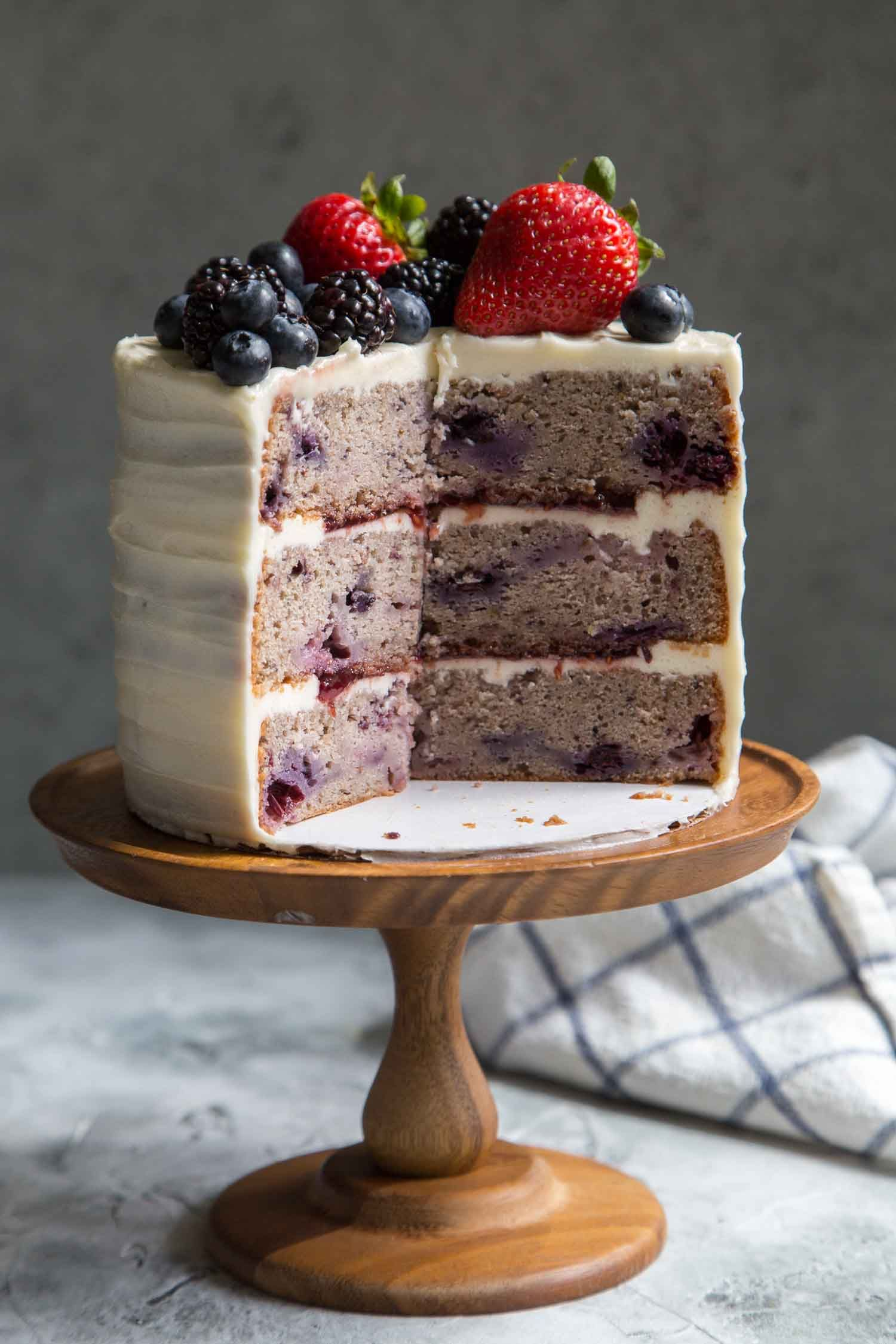 Frosted Berry Layer Cake