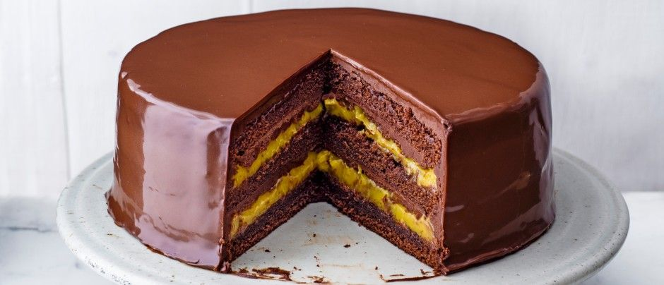 Passion Fruit and Chocolate Cake