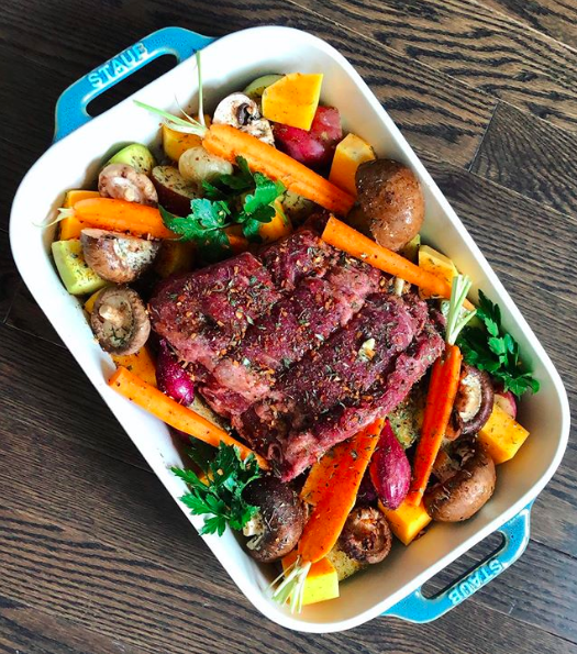 Roast Beef with Diced Vegetables