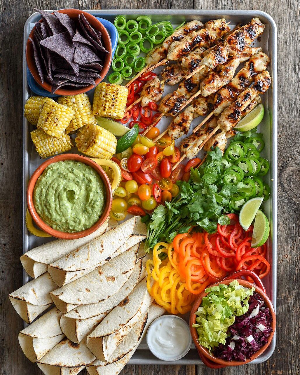 Grilled Chicken Tortillas with Spicy Guacamole