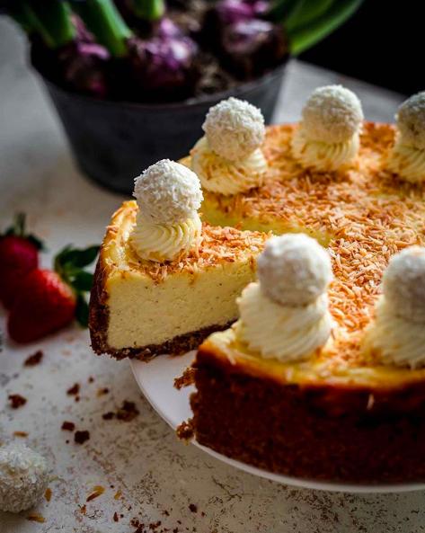 Coconut Cheesecake with Graham Cracker Crust